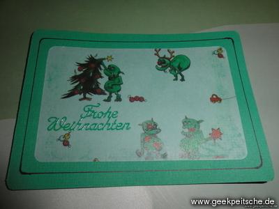 Selbstgebastelte Weihnachtskarten Verkabelt